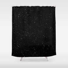 Space Stars Shower Curtain