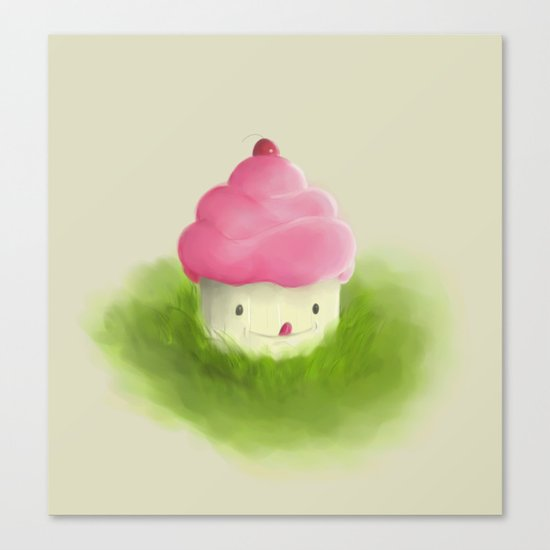 Go play with your cupcake Canvas Print