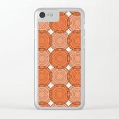 Red & Orange Circles Clear iPhone Case