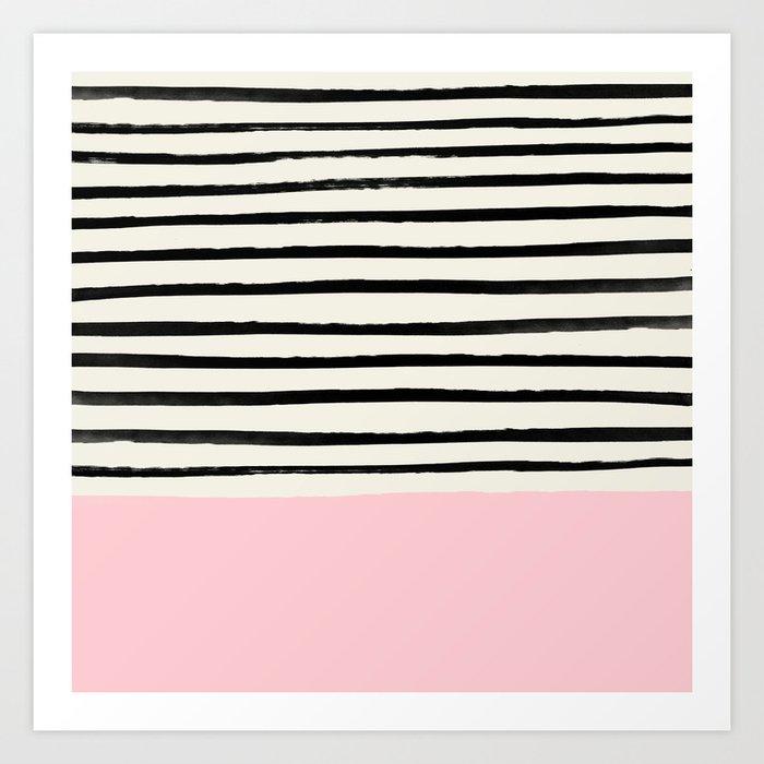 Millennial Pink x Stripes Kunstdrucke