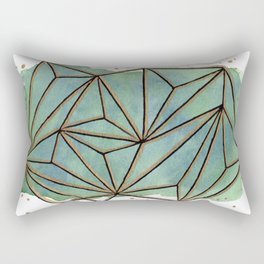 Abstract Geometric with Watercolor Background Rectangular Pillow