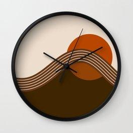 Cocoa Sundown Stripes Wall Clock