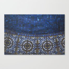 Blue Tile Canvas Print
