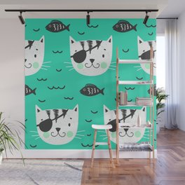 cats in the sea Wall Mural
