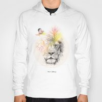 lion Hoodies featuring lion  by mark ashkenazi