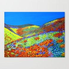 Hillside flowers  Canvas Print