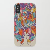 birdy iPhone & iPod Cases featuring Birdy by Julia Sonmi Heglund