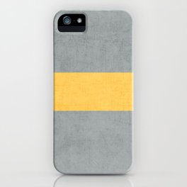 gray and yellow classic iPhone Case