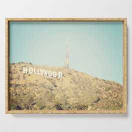 Hollywood Sign Serving Tray