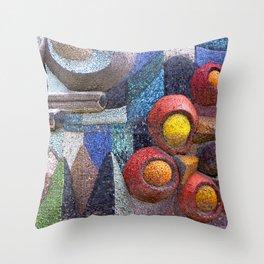 abstract mosaic Throw Pillow