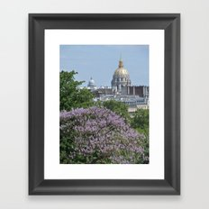 Domes de Paris Framed Art Print
