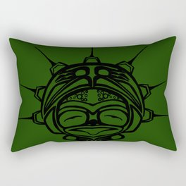 Ink Frog Grass Rectangular Pillow