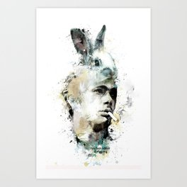 Rebel with a bunny Art Print