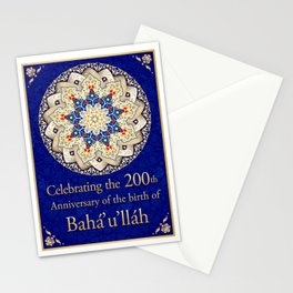 Bicentennial Graphic - royal blue Stationery Cards