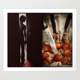 Strawberry Massacre Art Print
