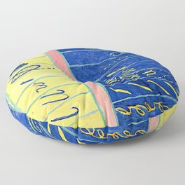 "Hilma af Klint ""Primordial Chaos No. 10, Group I"" Floor Pillow"