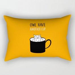 Owl have anoter cup, coffee poster Rectangular Pillow