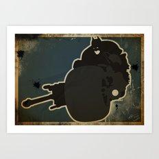 The Dark Knight: Batpod Art Print