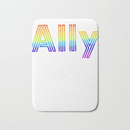 Straight Ally design For LGBT Pride Supporters Bath Mat