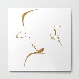 Women In Gold Metal Print