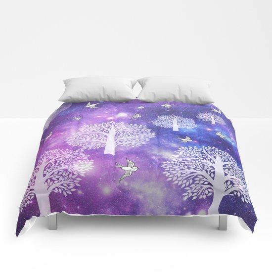 Space Trees Comforters