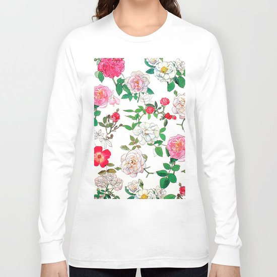 Pattern of vintage rose Long Sleeve T-shirt
