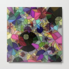 Gemstone Jungle Metal Print