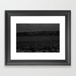Ice on the Hudson Framed Art Print
