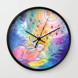 Jackalope of the Night Wall Clock