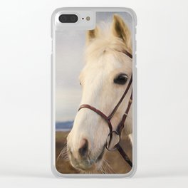 Beauty Is A Light - Horse Art Clear iPhone Case