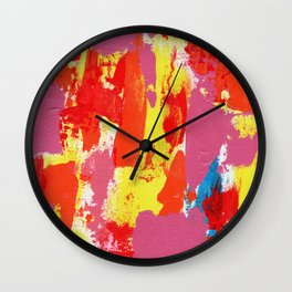 Abstract Expression #7 by Michael Moffa Wall Clock