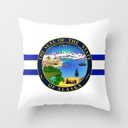 State of Alaska Seal Throw Pillow