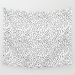 Black and White Spots Wall Tapestry