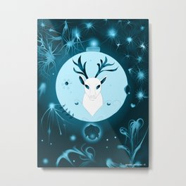 Midnight Heavenly White Stagg  Metal Print