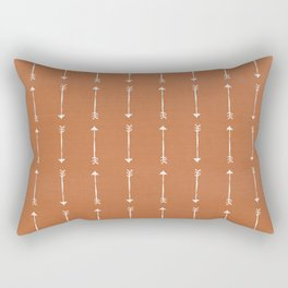 COPPER DENIM . WHITE ARROWS Rectangular Pillow