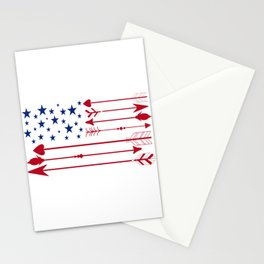 4th of July Patriotic American Gift Independence Day Stationery Cards