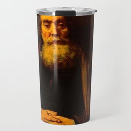 Rembrandt - Old Man in an Armchair, possibly a portrait of Jan Amos Comenius Travel Mug