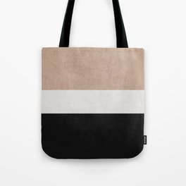 classic - natural, cream and black Tote Bag