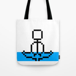 Pixel Art Yoga Sitting Pose Tote Bag