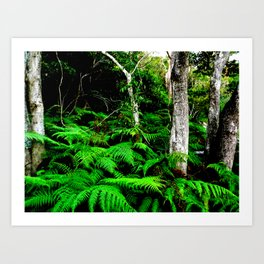 Isn't it good to be lost in the wood Art Print