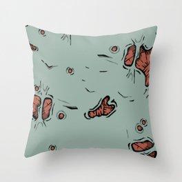 Piesl zombies Throw Pillow