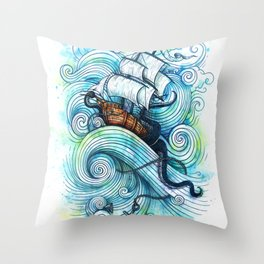 Long Journey Throw Pillow