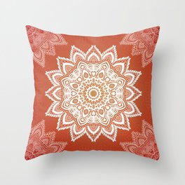 Tibetan mandala background Throw Pillow
