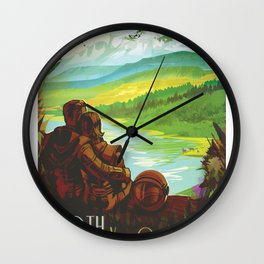 NASA Visions of the Future - Earth: Your Oasis in Space Wall Clock