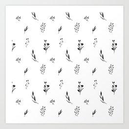 Little botanics black&white Art Print
