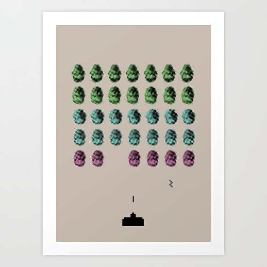 Faceinvaders Art Print
