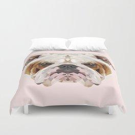 English Bulldog // Pastel Pink Duvet Cover