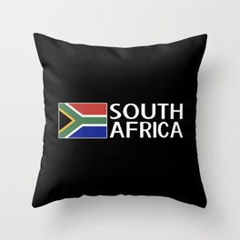 South Africa: South African Flag & South Africa Throw Pillow