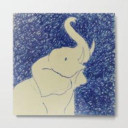 Elephant Doodle # 2 Metal Print