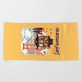 Enjoy San Fransokyo Beach Towel
